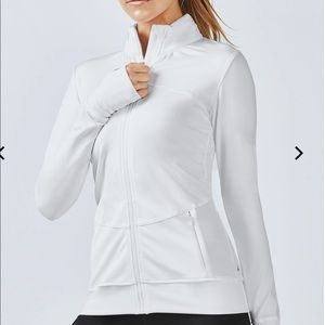 Brand new with tag fabletics white jacket